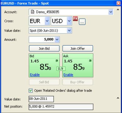 Forex Trade Ticket